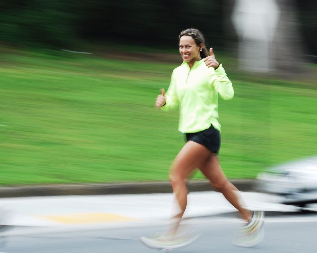 Woman running without pain